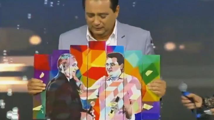 Geraldo Luís vai às lágrimas com presente em homenagem a Marcelo Rezende
