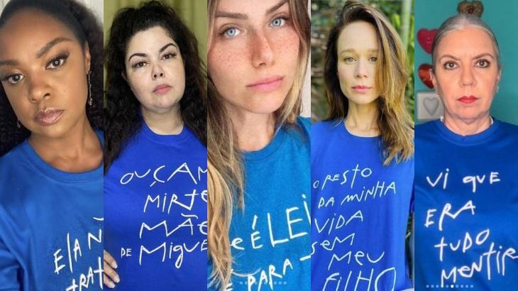 Angélica, Mariana Ximenes e mais: Famosas participam da campanha #JustiçaporMiguel