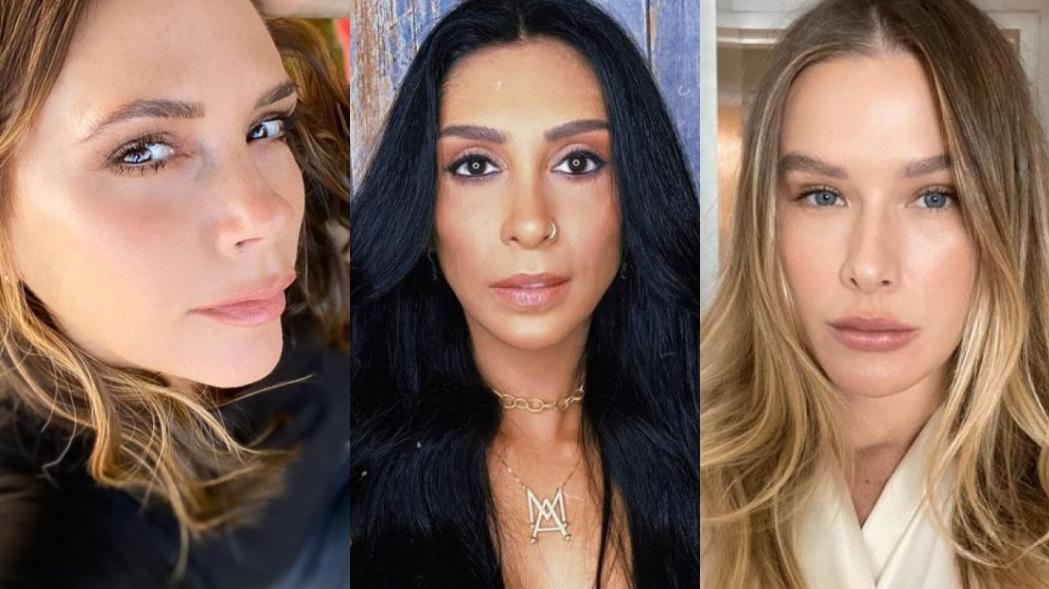 Montagem com as fotos de Victoria Beckham, a ex-BBB Amanda e Fiorella Mattheis