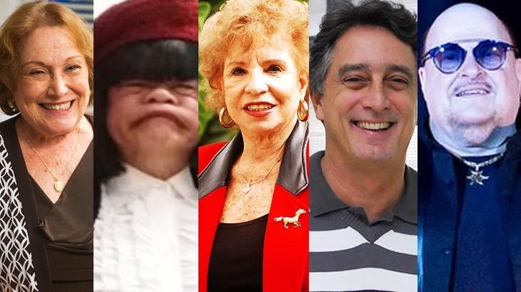 Nicette Bruno, Rodela, Daisy Lucidi, Eduardo Galvão e Paulinho em montagem