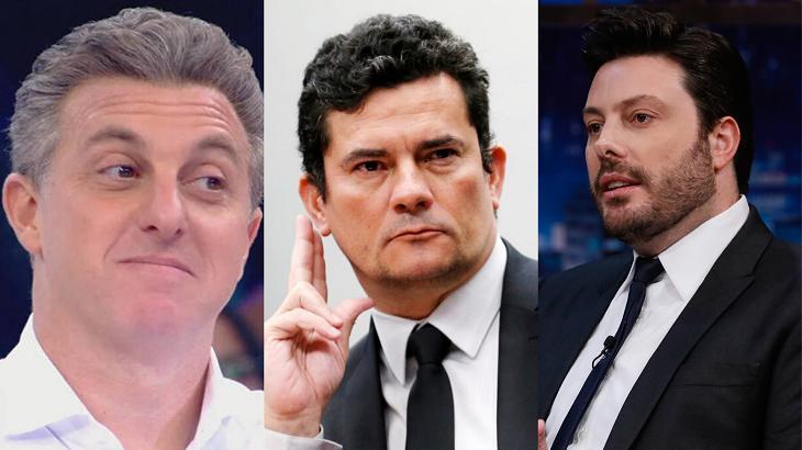 Luciano Huck, Sergio Moro e Danilo Gentili