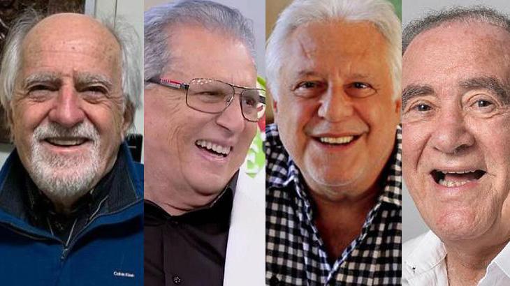 Ary Fontoura, Carlos Alberto de Nóbrega, Antonio Fagundes e Renato Aragão