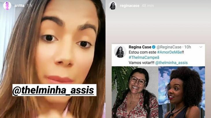 BBB20: Anitta, Paulo Gustavo e Simaria, saiba para quem os famosos estão torcendo