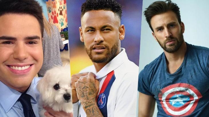 Luiz Bacci, Neymar Jr e Chris Evans