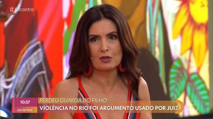 """Fátima Bernardes durante seu programa, o """"Encontro"""""""