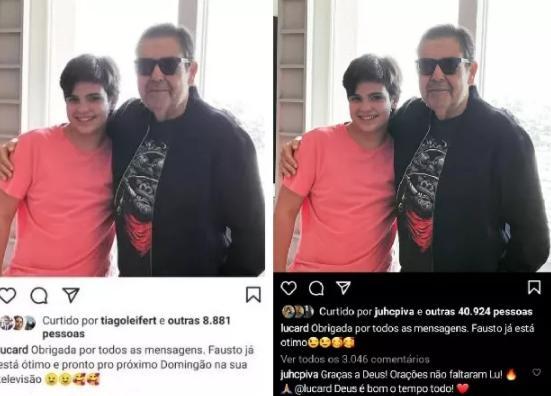 Mulher de Faustão edita post na web após Globo antecipar saída do apresentador