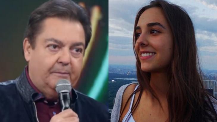 Faustão e Lara Silva