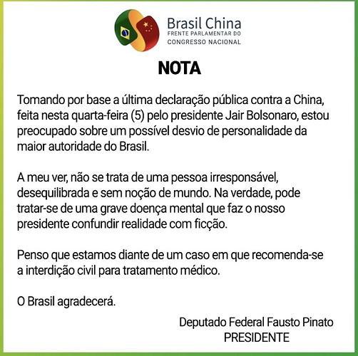 "Bolsonaro dá declaração polêmica na TV Brasil e deputado rebate: \""Grave doença mental\"""