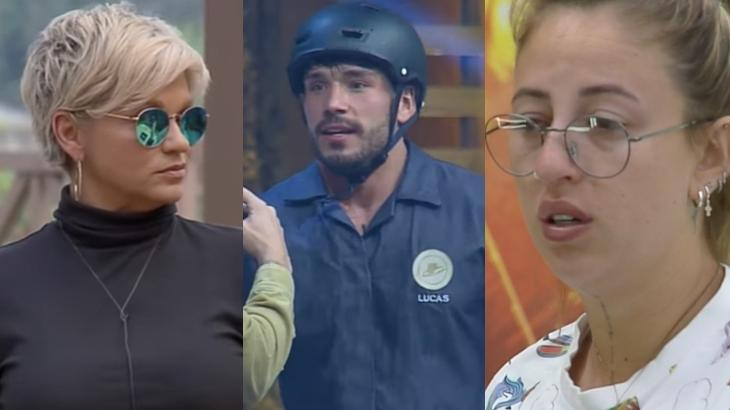 Bifão e Andréa se estranharam com Lucas Viana em A Fazenda 11