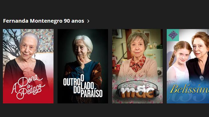 Com Fernanda Montenegro, Globo vira exemplo a ser seguido pela Record e SBT