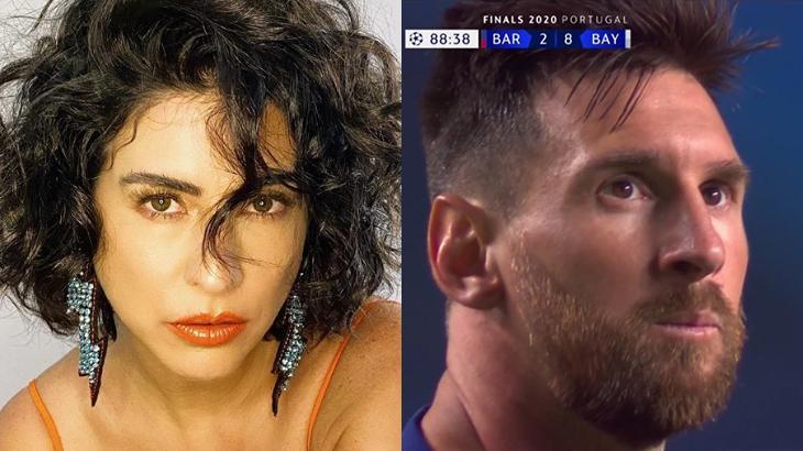 Fernanda Paes Leme adivinhou o placar de Bayern de Munique 8 x 2 Barcelona, para tristeza de Messi