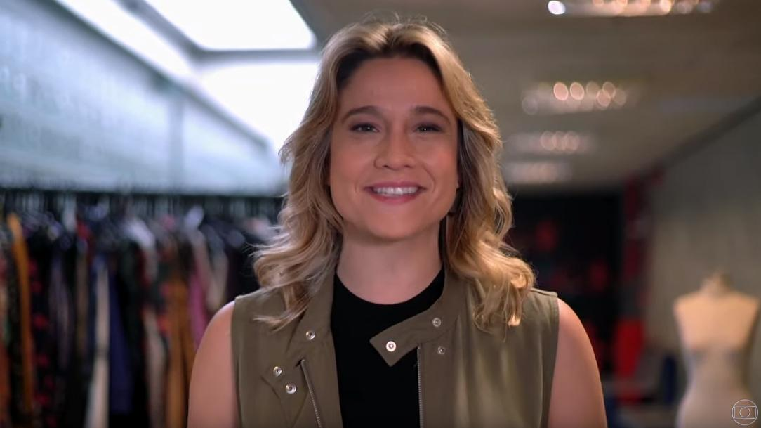 Fernanda Gentil loira para a chamada do Se Joga