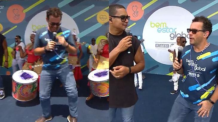 Fernando Rocha dança com Harmonia do Samba e é detonado na web