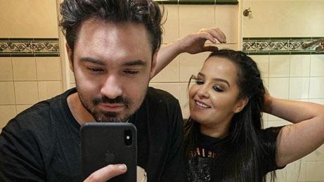 Fernando e Maiara no espelho