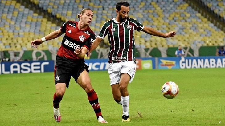 Jogadores de Flamengo e Fluminense na final do Campeonato Carioca 2020