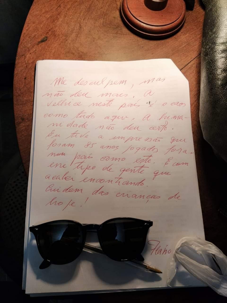 """Carta escrita por Flávio Migliaccio antes de morrer é divulgada: \""""Me desculpem\"""""""
