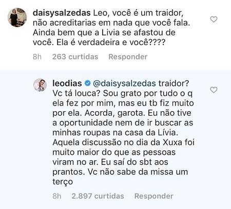 """Leo Dias é acusado de trair Lívia Andrade e relembra briga: \""""Saí do SBT aos prantos\"""""""