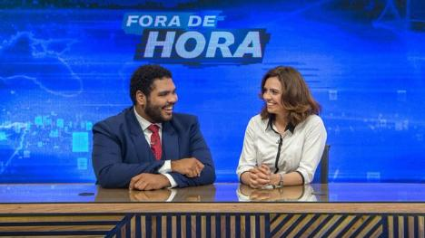 Paulo Vieira e Renata no Fora de Hora
