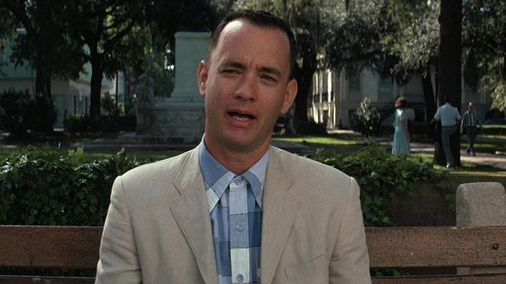 Tom Hanks em Forrest Gump
