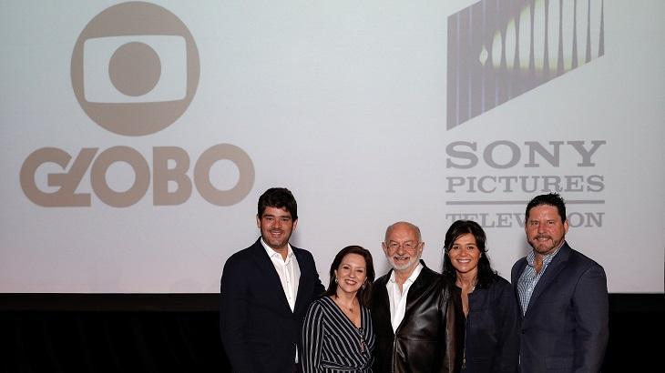 Diretores da Globo e da Sony