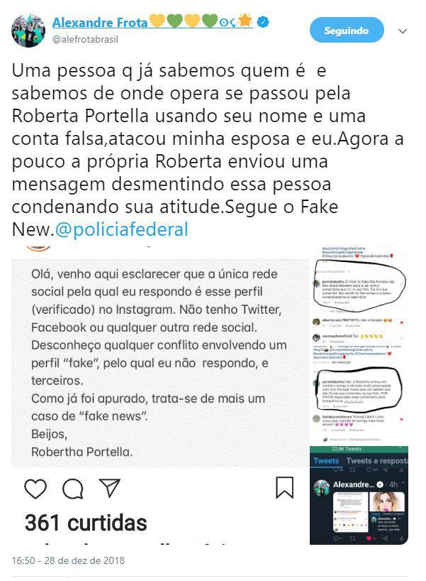 Alexandre Frota afirma que atriz global atacou sua esposa grávida