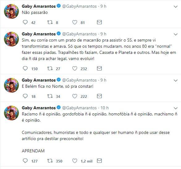 Gaby Amarantos detona Silvio Santos e o acusa de ridicularizar negros, mulheres e gays