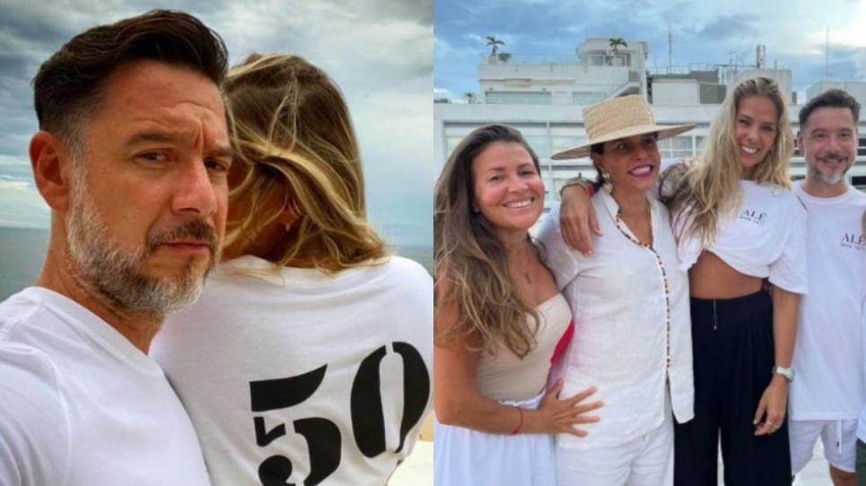 Adriane Galisteu comemora os 50 anos do marido em festa no Copacabana Palace