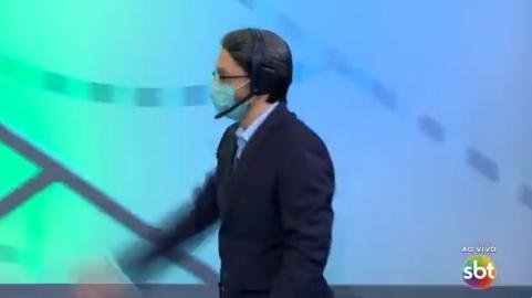 Rudy Landucci como o Galvão Bueno do SBT