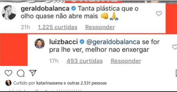 As maiores brigas e implicâncias entre Luiz Bacci e Geraldo Luís