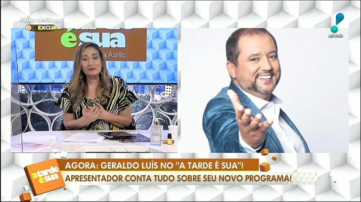 Geraldo Luís foi entrevistado por Sônia Abrão
