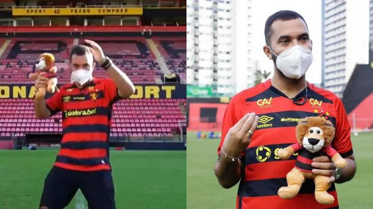 Gil do Vigor com a camisa do Sport
