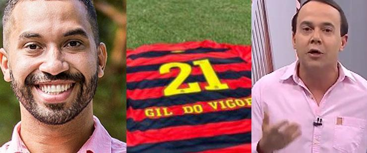 Camisa do Sport Club do Recife com o nome Gil do Vigor
