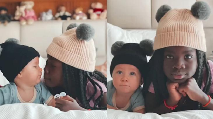 Titi e Zyan de touca em vídeo do Instagram