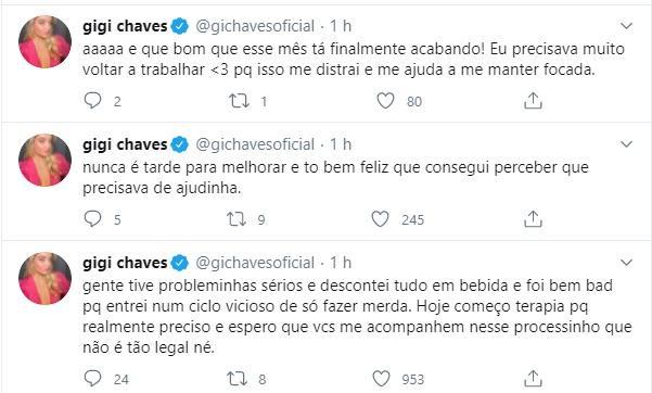 """Aos 18 anos, Giovanna Chaves revela que descontou problemas na bebida: \""""Bem bad\"""""""