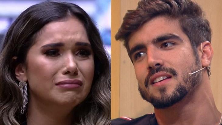 Gizelly Bicalho revelou ter tido conversa com Caio Castro fora do BBB20 - Foto: Globo/Montagem