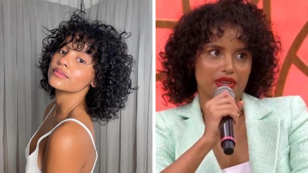 Gleici Damasceno antes e depois da cirurgia no nariz