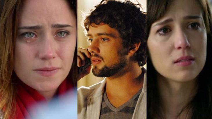 Montagem de fotos com Ana, Rodrigo e Manu, de A Vida da Gente