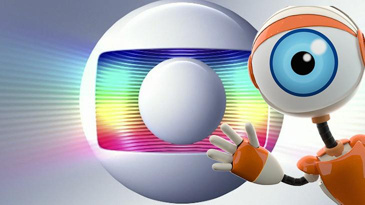 Logotipo da Globo com a robô do BBB