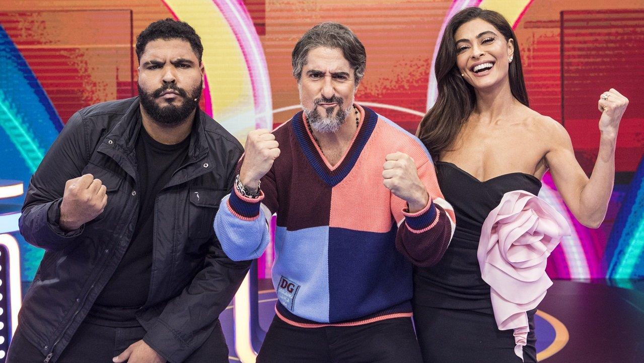 Caldeirão: Mion recebe Tiago Leifert, Juliana Paes e Larissa Manoela em estreia
