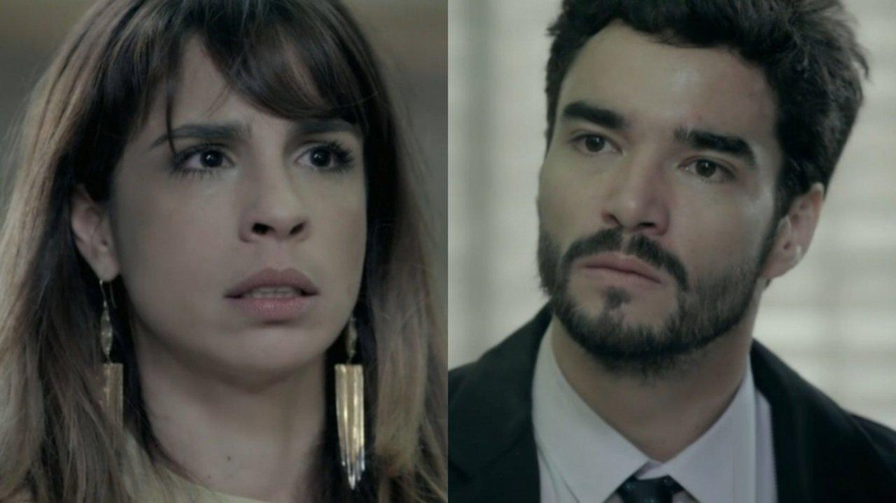 Maria Ribeiro e Caio Blat em cena da novela Império, em reprise na Globo