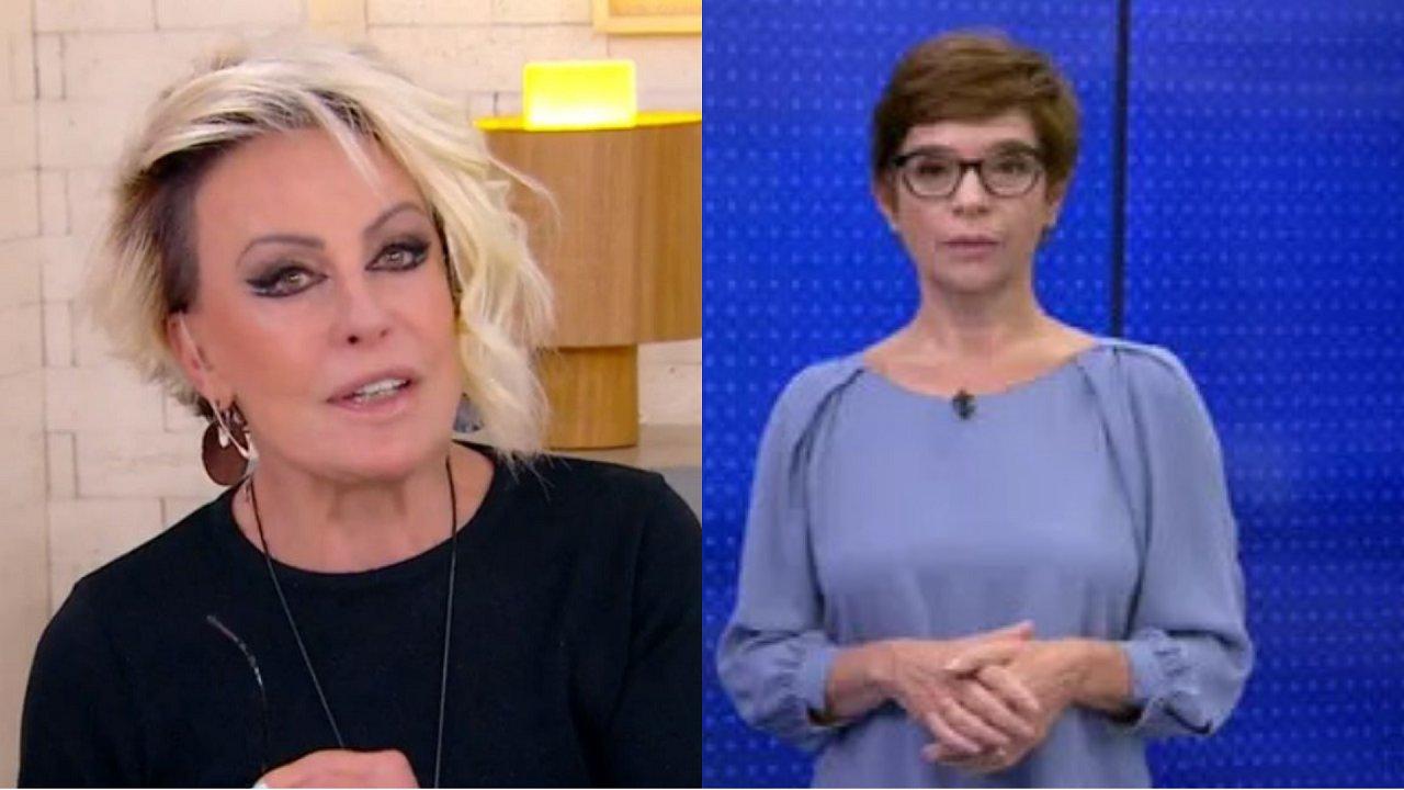 Ana Maria Braga (à esquerda) e Renata Lo Prete (à direita) em foto montagem