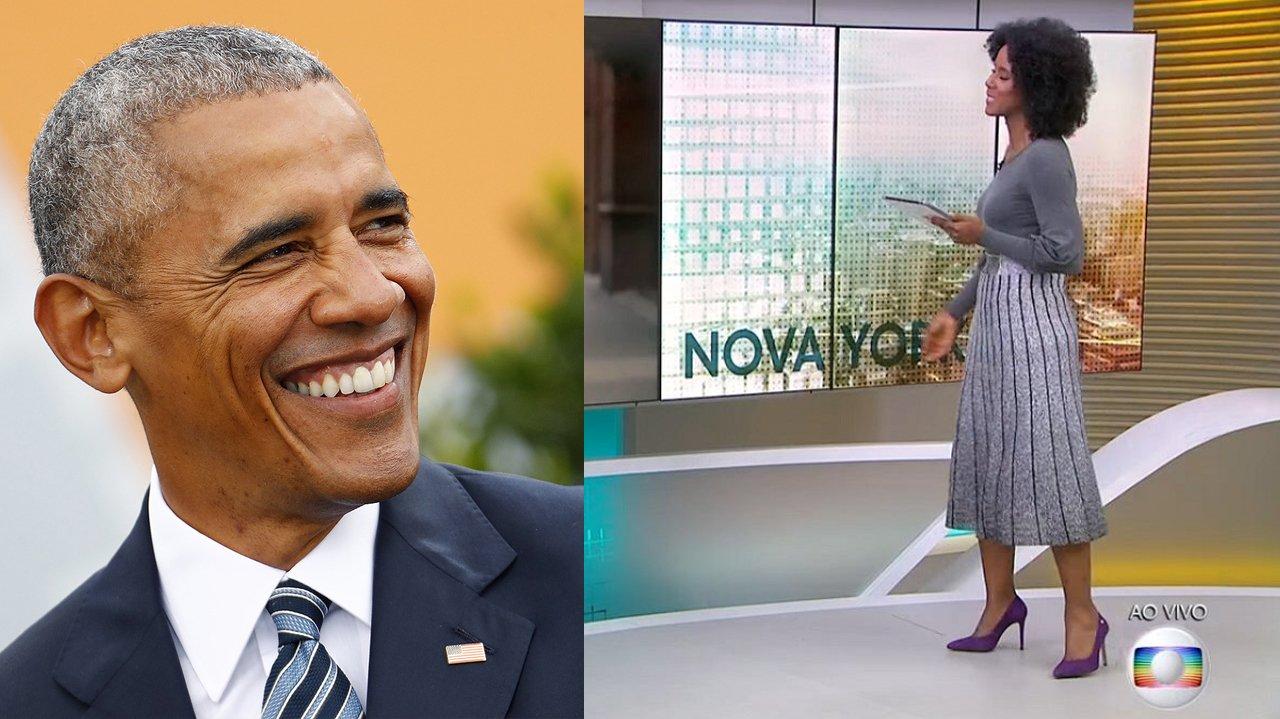 Maju Coutinho e Barack Obama em montagem
