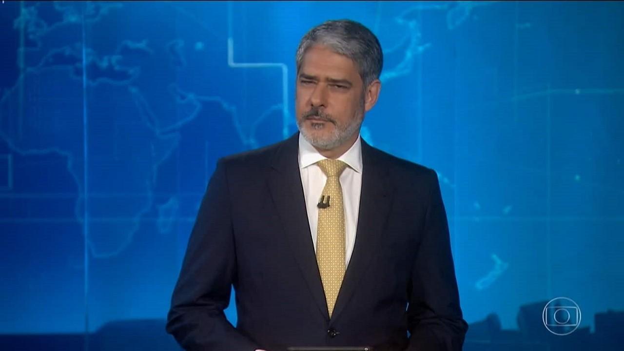 William Bonner no Jornal Nacional