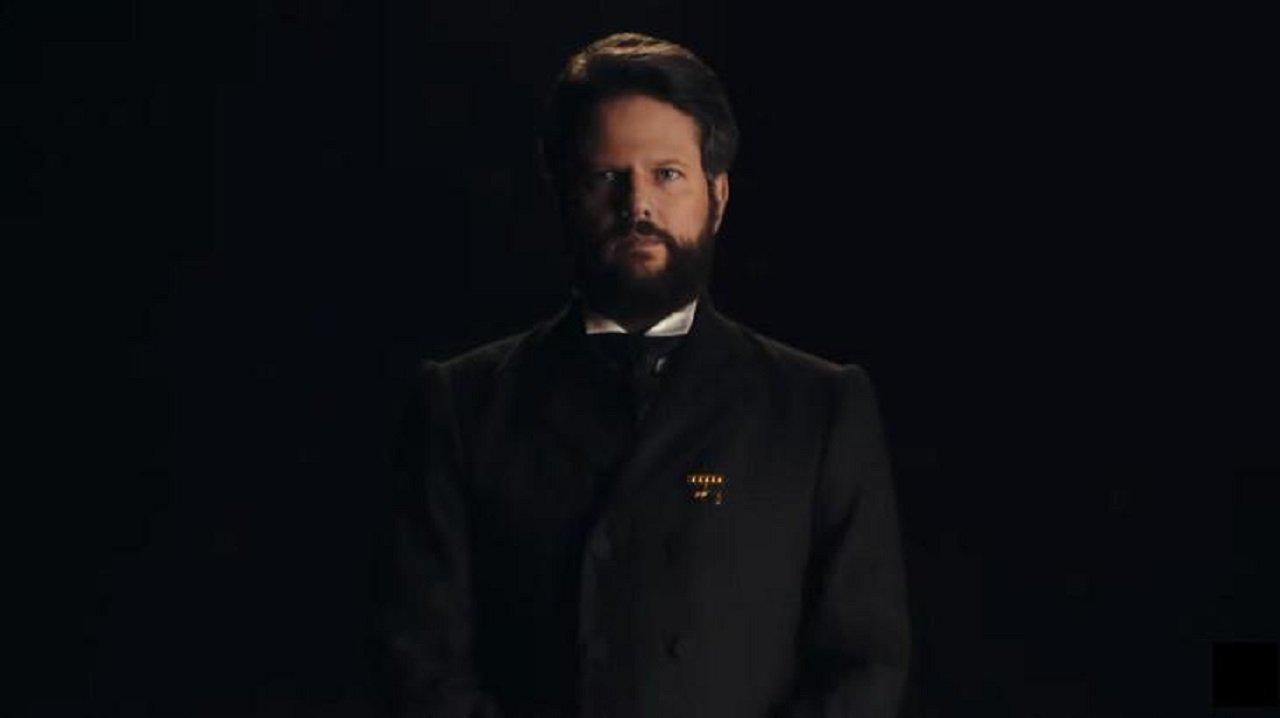 Selton Mello caracterizado como Dom Pedro II de Nos Tempos do Imperador