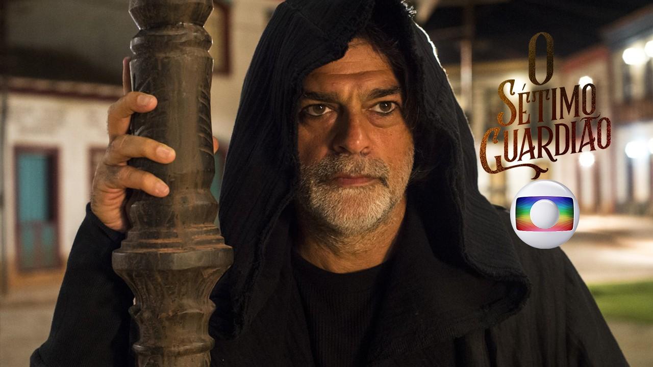 O ator Eduardo Moscovis em cena da novela O Sétimo Guardião