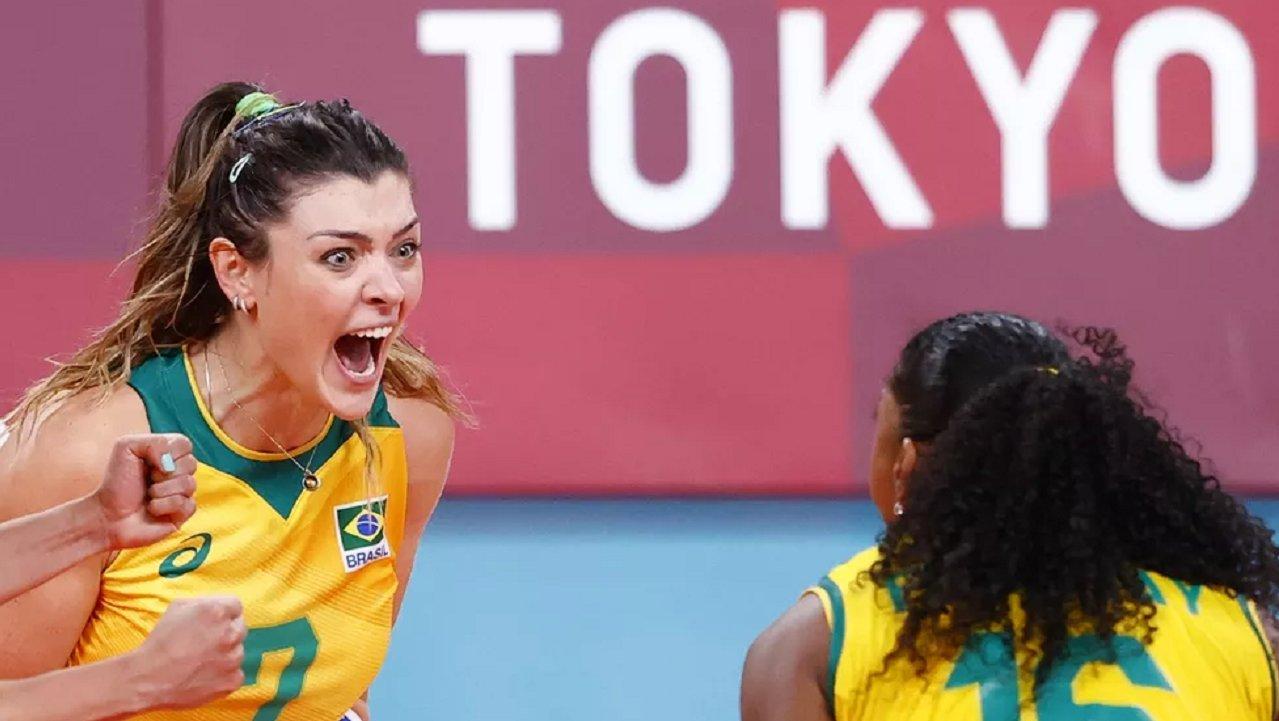 Seleção brasileira de vôlei em Tóquio