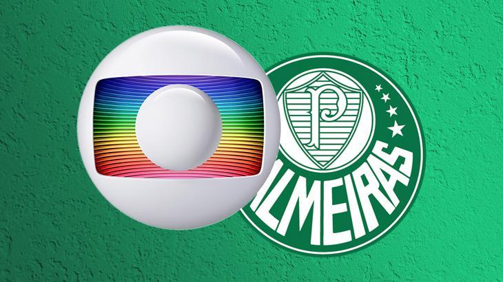 Logos da Globo e Palmeiras