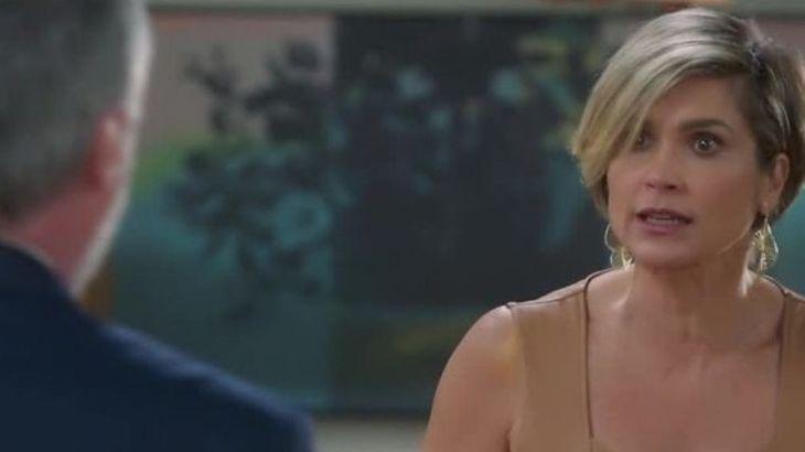 Cena de Salve-se Quem Puder com Helena olhando furiosa para Hugo