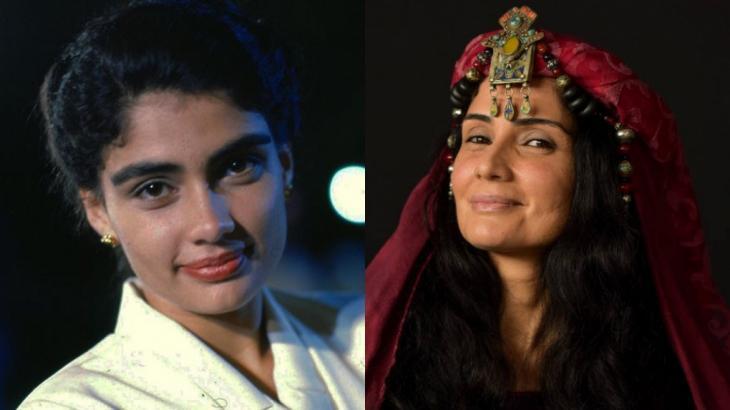 À esquerda, Patrícia França como Cláudia em Sonho Meu (1993); à direita, como Bila em Gênesis (2021)