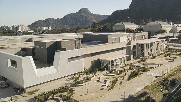 Maquete mostra imagem aérea dos três novos estúdios da Globo